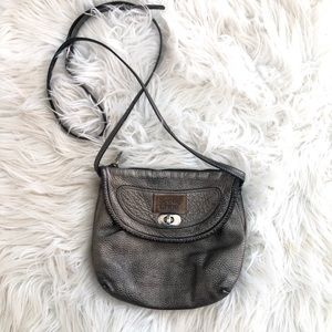 See by Chloe Flapjack Pewter Crossbody Purse